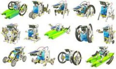 Flat 68% off on 14-in-1 Solar Robot Kit Toy / 14 In 1 Solar Diy Robot Toy