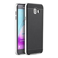 Buy iPaky Silicon Black Back + PC Silver Bumper Frame Shockproof Back Cover for Samsung Galaxy A5 -2016 Edition from Amazon