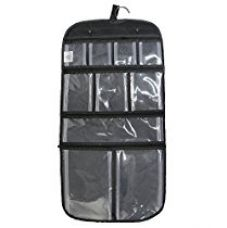 Household Essentials Hanging Vinyl Cosmetic and Grooming Travel Bag, Black for Rs. 421