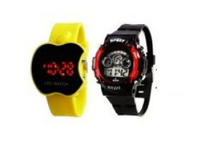 Get 79% off on Apple Led Yellow & Kids Red Watch