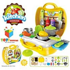 Toys Bhoomi Ultimate Kid Chef's Bring Along Kitchen Cooking Suitcase Set - 26 Pieces for Rs. 699