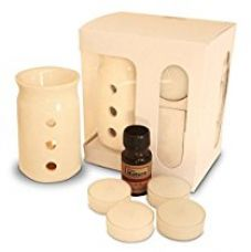 Buy Pure Source India Ceramic Aroma Burner with 10 ML Jasmin Aroma Oil and 4 Tea Light Candle from Amazon
