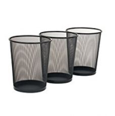 Buy Callas Metal Mesh Round Dustbin for Home, Kitchen and Office, Set of 3 from Amazon