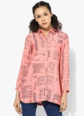 Buy W Pink Printed Polyester Tunic for Rs. 1050