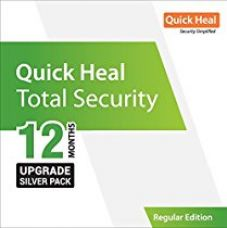 Buy Quick Heal Total Security Renewal Upgrade Silver Pack - 1 User, 1 Year (DVD) (existing Quick Heal subscription required) from Amazon