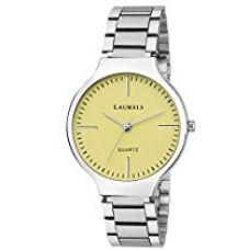 Buy Laurels Alice Yellow Dial Analog Wrist Watch - For Women from Amazon