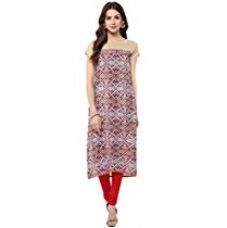 Janasya Women's Crepe Straight Digital Printed Kurta (JNE1396-MULTI-KR-094-L) for Rs. 365