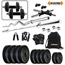 Kore K-PVC-20KGCOMBO2 Home Gym and Fitness Kit for Rs. 1,999