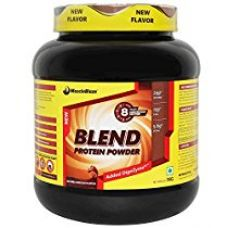 Buy MuscleBlaze Blend Protein - 1 kg (Chocolate) from Amazon