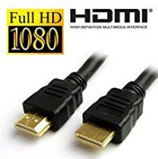 ECosmos 1.8 Meter HDMI Male to HDMI Male Cable TV Lead 1.4V High Speed Ethernet 3D Full HD 1080p (Black) 1 Year Warranty for Rs. 399
