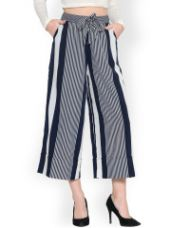 Get 70% off on Women Striped Culottes