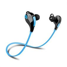 Buy Captcha Qs-811 Bluetooth Headphones With Mic for All Devices (Blue) from Amazon