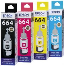 Epson T664 Set Of 4 Multi Color Ink  (Black, Magenta, Yellow, Cyan) for Rs. 1,500