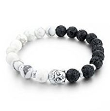 Buy HOT AND BOLD Certified Natural Gem/Semi Precious Stones & Silver Plated Buddha Strand Bracelet For Women , Men, Girls, & Boys from Amazon