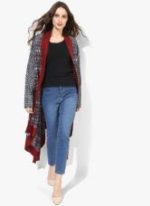 Buy Biba Blue Printed Cotton Shrug from Jabong