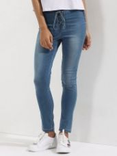 Buy KOOVS Lace Up Low-rise Skinny Jeans for Rs. 881