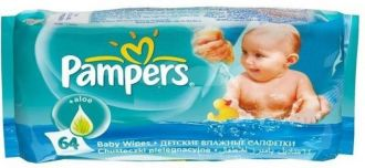 Pampers Aloe Baby Wipes  (White) for Rs. 250