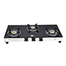 Buy BlackPearl Glass 3 Burner Manual Gas Stove, Black from Amazon