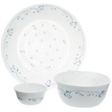 Buy Corelle Essential Provincial Blue Round Dinner Set, 14-Pieces from Amazon