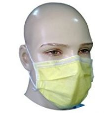 Filtra 4-Ply Ear Loop Surgical Face Mask Yellow, 50 Pcs for Rs. 250