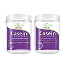 Buy Natures Velvet Lifecare 100% Casein Protein, Vegetarian and Natural, 300 gms - Pack of 2 from Amazon