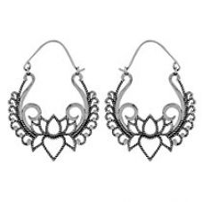Voylla Fashion Brass With Oxidized Silver Plated Earrings For Women for Rs. 251