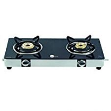 BlackPearl Glass 2 Burner Manual Gas Stove, Black for Rs. 2,525