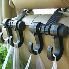 Buy Car Vehicle Seat Headrest Bag Hanger Hook Holder Black for Rs. 199