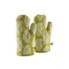 Buy Amazon Brand - Solimo 100% Cotton Padded Oven Gloves, Paisley (Pack of 2, Green) from Amazon
