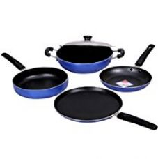 Buy KG Star Non-Stick Cookware Combo 5-Pieces (Blue) from Amazon