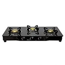 Buy Sunflame Pearl 3 Burner Glass Top Gas Stove (Black) from Amazon