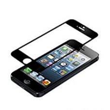 I PHONE 5 Edge to Edge Full Front Body Cover (BLACK) Coloured Tempered Glass for Rs. 299