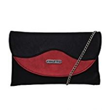 Fristo Women's Slingbag(FRSB-104)Black and Red for Rs. 348
