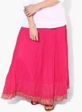 Get 50% off on Biba Fuchsia Flared Cotton Skirt