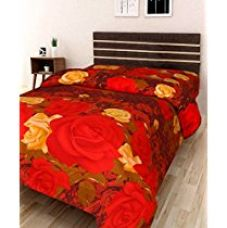 Buy IWS 3D Printed 160 TC Polycotton Single Bedsheet - Floral, Multicolour from Amazon