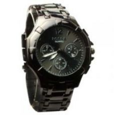 Buy Rosra Round Dial Black Metal Strap Mens Watch for Rs. 209