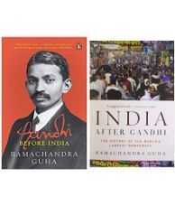 Ramachandra Guha book combo pack- India After Gandhi & Gandhi Before India for Rs. 1,171