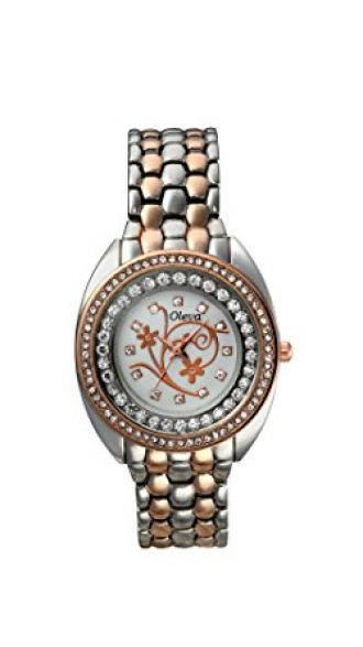 Buy Oleva Ladies Premium Metal Watch OMW-10-WHITE-1 from Amazon