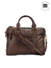 Flat 73% off on Unisex Leather Laptop Bag