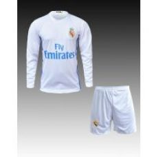 Flat 34% off on New Fan Real Madrid Home Kit (Long Sleeve Jersey with Shorts)