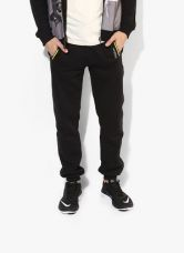 Get 45% off on Pepe Jeans Black Solid Joggers