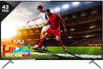 Flat 16% off on Vu 109cm (43 inch) Full HD LED TV  (43D6545)
