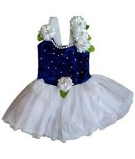 Buy MPC Blue and White Frock For Girls from SnapDeal