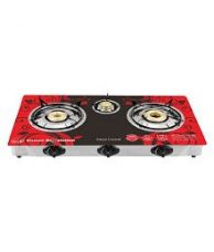 Buy Surya Crystal Scr201r 3 Burner Auto Gas Stove for Rs. 2,349