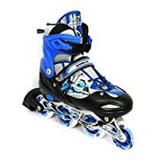 Kamachi K-906 100-percent-cotton-jersey Inline Skates, Large (Blue/White) for Rs. 1,469