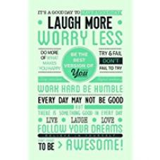 Buy Posterboy 'Laugh More Worry Less' Poster from Amazon