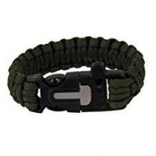 Buy Imported Outdoor Paracord Bracelet Flint Fire Starter Scraper Whistle - Army ...-54000255MG from Amazon