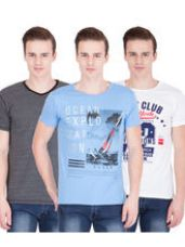 Get 57% off on American-Elm Men's Pack Of 3 Round Neck T-Shirts- ...
