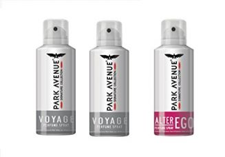 Park Avenue Super Saver Pack Buy 2 Get 1 Free(2 Voyage + 1 Alter Ego) 324g/420ml for Rs. 389