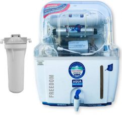 Flat 64% off on Aquagrand Plus Plus Freedom 12 L RO + UV Water Purifier  (White)